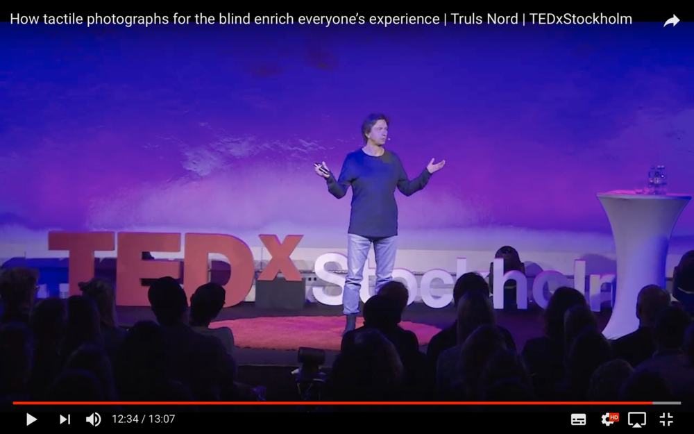 Still from my TEDx talk 2016. To see video klick  here .