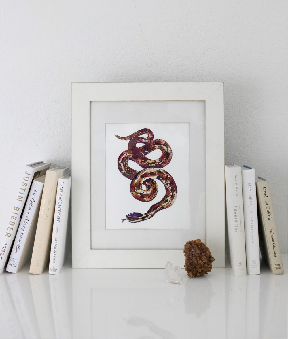 Watercolor Snake, Picture frame_01.jpg