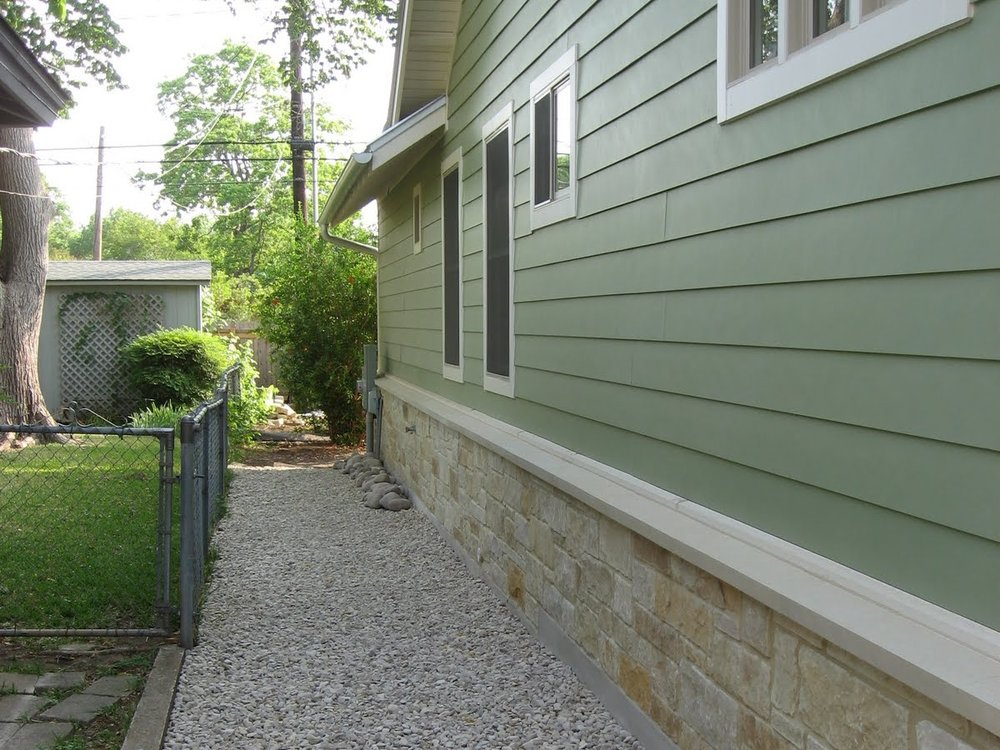 Treat Base and Lower Section of House - We treat a 3 foot section on the side and a 5 foot section at the base of the home. This creates a bug-free area adjacent to the home and coupled with the granular perimeter, an extremely effective barrier.