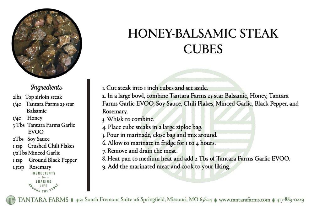 Honey Balsamic Steak Recipe