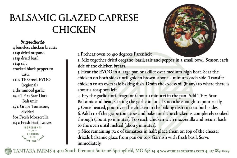 Balsamic Glazed Chicken Recipe