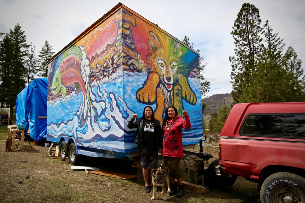 Tiny houses are a trendy way to live minimally and downsize—but for a Secwepemc community in British Columbia, they're an act of resistance. Since the fall, Indigenous women of the Secwepemc Nation—calling themselves the Tiny House Warriors—have been constructing tiny houses and strategically placing them in the pathway of the proposed Kinder Morgan Trans Mountain pipeline expansion. Read more  here.