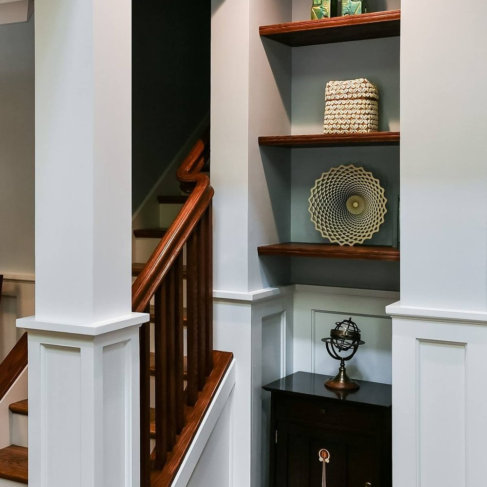 White Painted Walls with Wood Trim