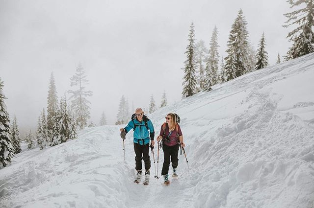 All this snow in Denver has me thinking about Kim and Kevin's snowy  session in Washington. Kim and Kevin are an amazing couple and they always seem to be looking at snow reports and scheming up new routes for their next trip. For this Cascades adventure session, the two trekked up the mountain in their backcountry skis and I tied my best to keep up on my snowshoes. In hindsight, the skis might have been a better choice. Next time. I just loved passing other the tall evergreens piled with snow. Kim and Kevin, you two are super inspiring and I enjoy catching up with your adventures on FB. And best of luck Kim with your new personal training business. You're going to do great! :)