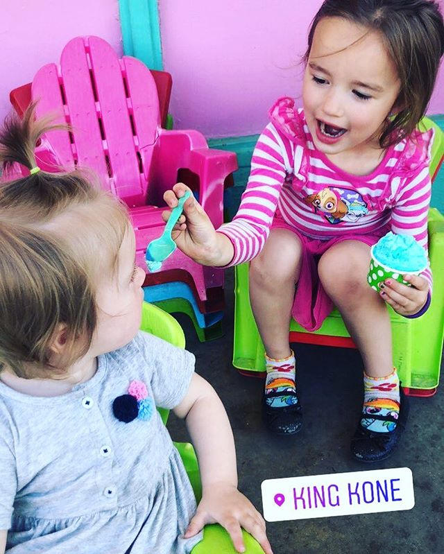 """Sharing is caring"" is what my 5 year old tells me but ignores his own advice when I ask him for a bite of his KONE which is why this picture is even more impressive! 💕🍦👑😊"