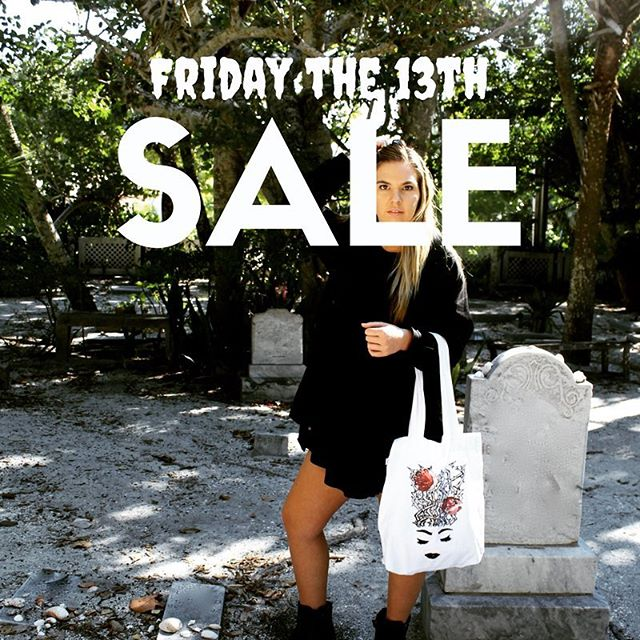 We are having a Friday the 13th weekend sale starting now! Our Halloween Tote Bags are 30% off! Sale ends Sunday at midnight! #fridaythe13th #weekend #sale #halloween #totebag #spooky #snakes #unicorn #shallowecologist #ecofriendly #organiccotton #ecochic #ecofashion #trickortreat #candy #bag