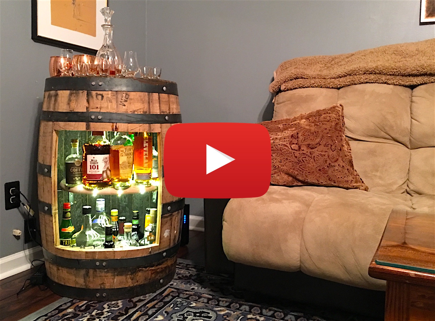 Genial Build A Whiskey Or Wine Barrel Liquor Cabinet [Video]
