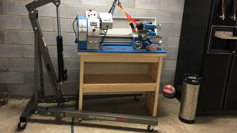 How To Build A Metal Lathe Stand — Crafted Workshop