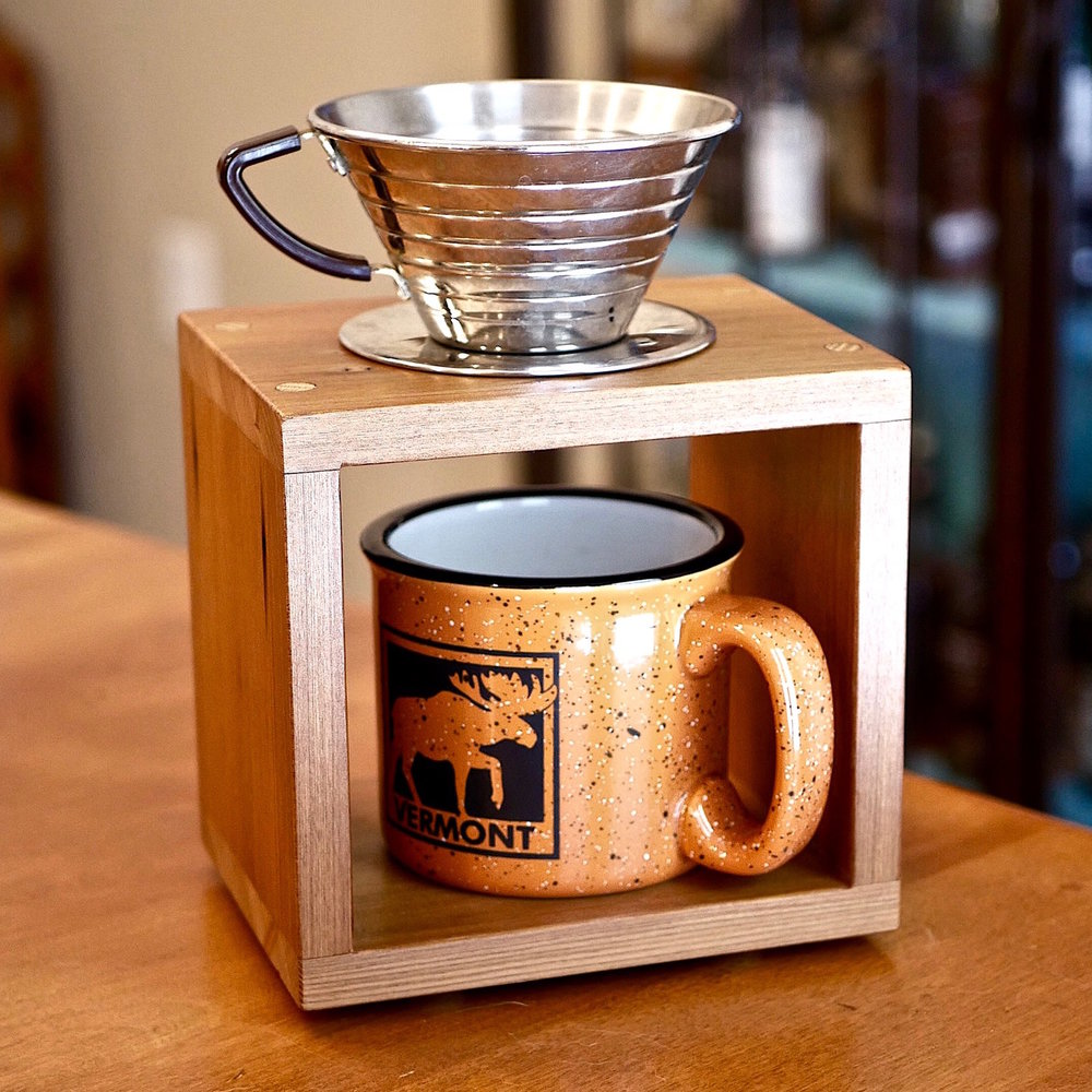 60fe9baace8 How To Make A DIY Pour Over Coffee Stand — Crafted Workshop