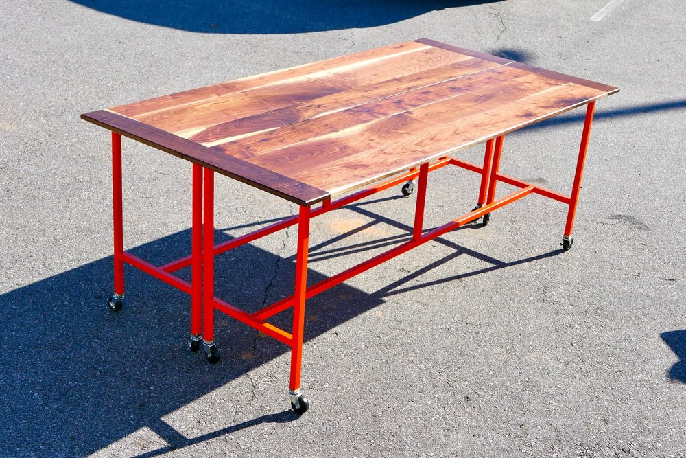 How To Build A Conference Table Dining Table W Walnut Steel - Build a conference table