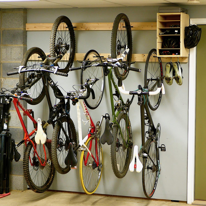 Delicieux How To Make A DIY Bike Rack For $20 / Bike Storage Stand U0026 Cabinet For  Garage U2014 Crafted Workshop