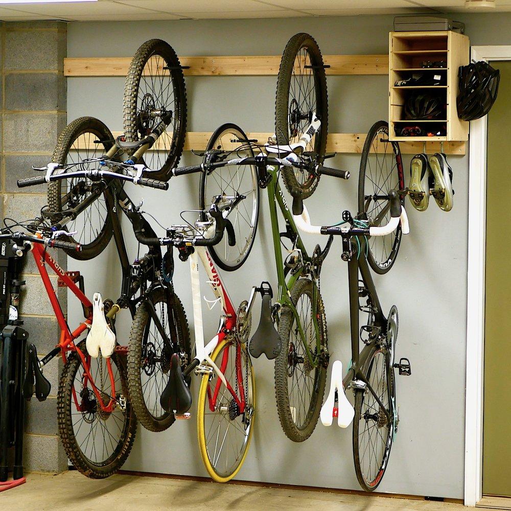 how to make a diy bike rack for 20 bike storage stand cabinet for garage crafted workshop - Garage Bike Rack