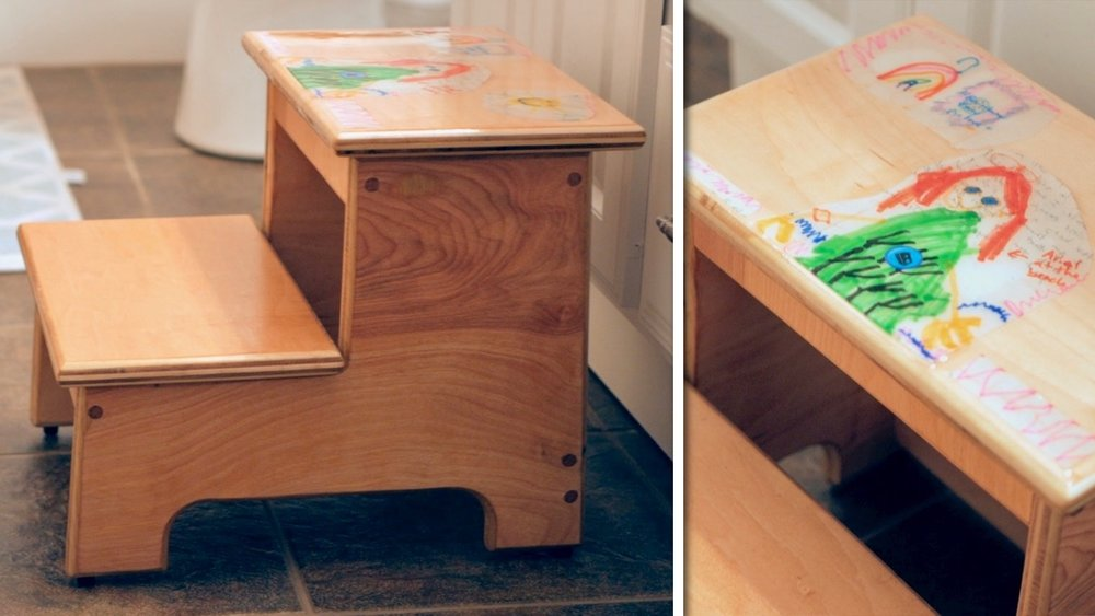 Awesome How To Build A Kids Step Stool With Their Artwork Crafted Evergreenethics Interior Chair Design Evergreenethicsorg