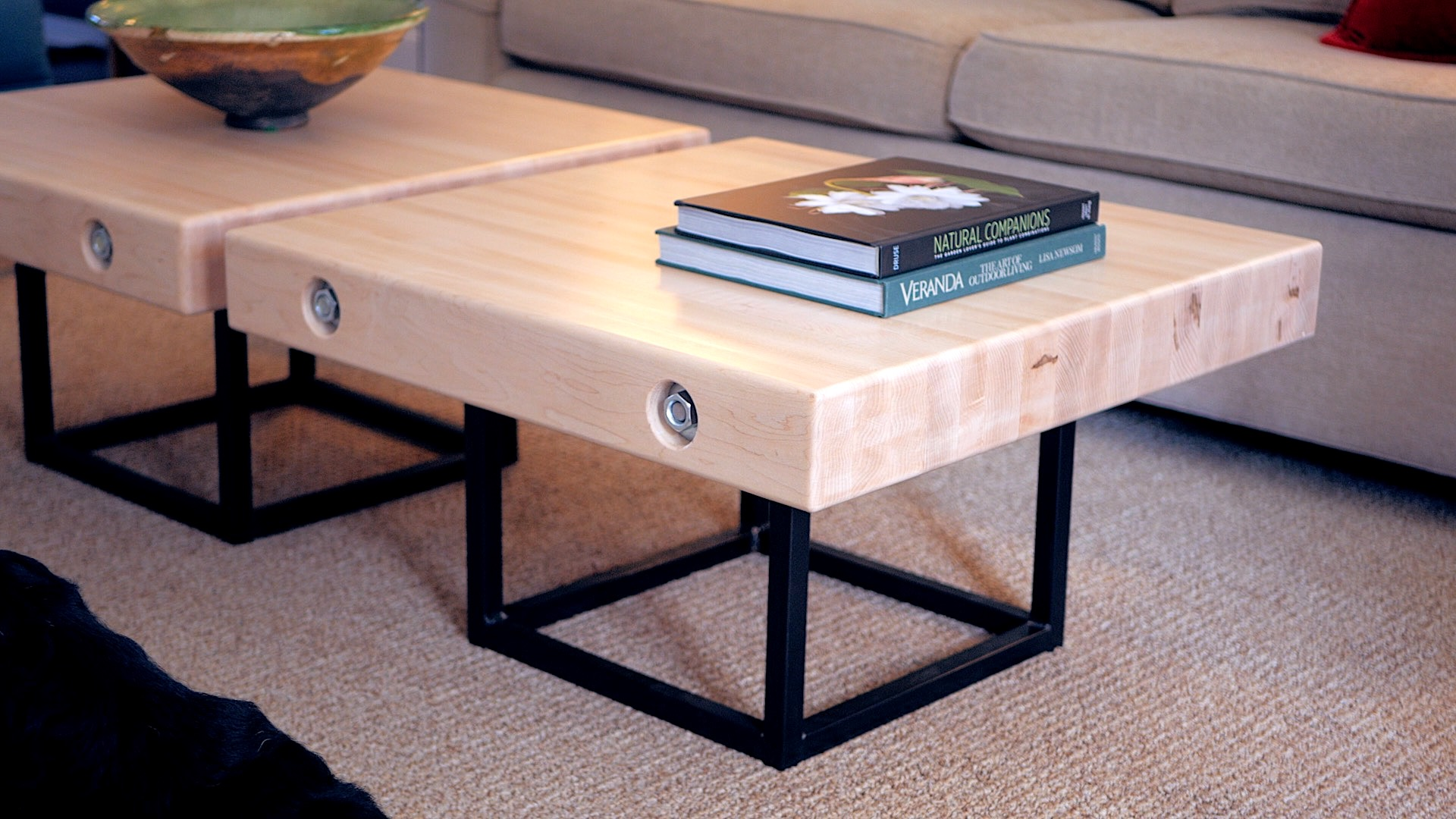 Modern Maple and Steel Coffee Table Part 1