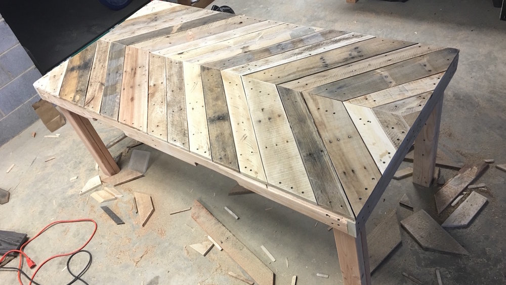 outdoor dining table pallet wood how to build woodworking