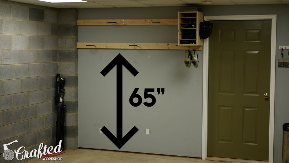 diy bike rack lower rail measurement