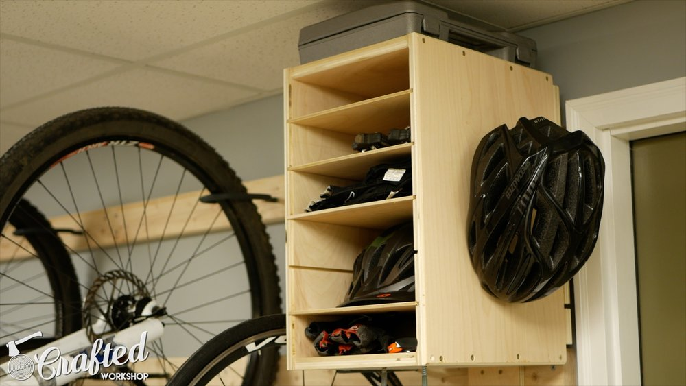 diy bike rack cabinet