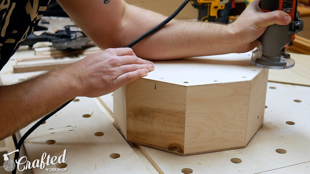Wood Snare Drum cajon diy rounding over edges router