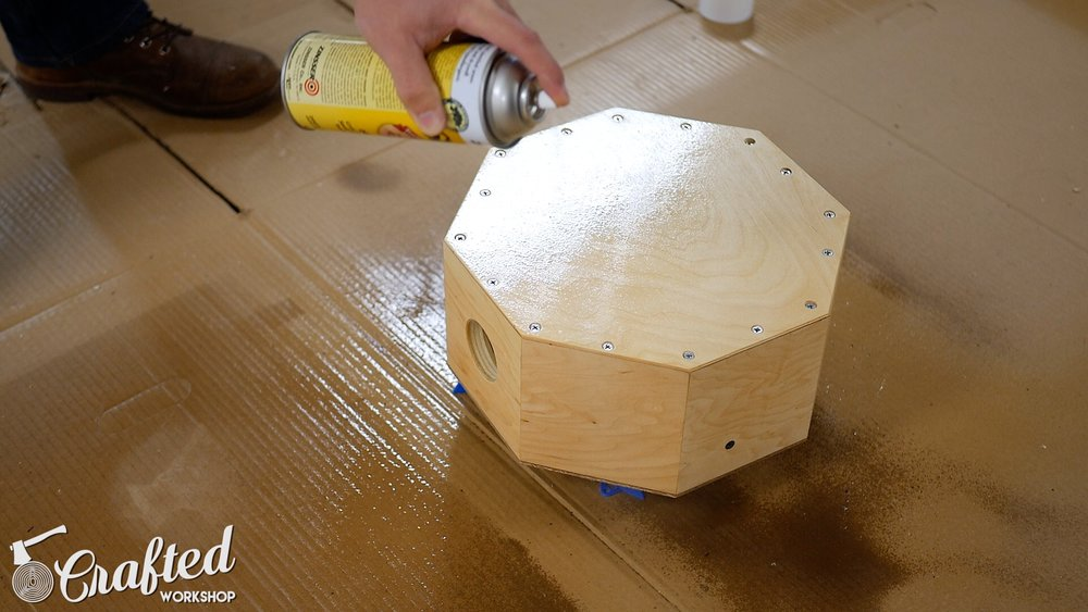 Wood Snare Drum cajon diy spraying shellac
