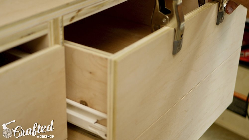 CNC Table Tool Storage Cabinet drawer fronts