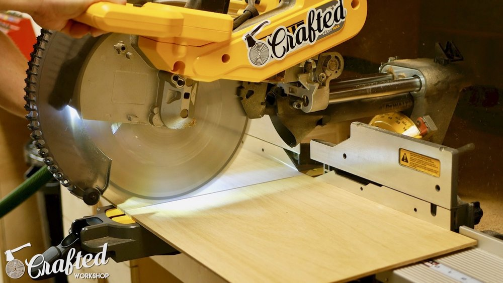 DIY Light Box Sign How-To Build dewalt flexvolt miter saw