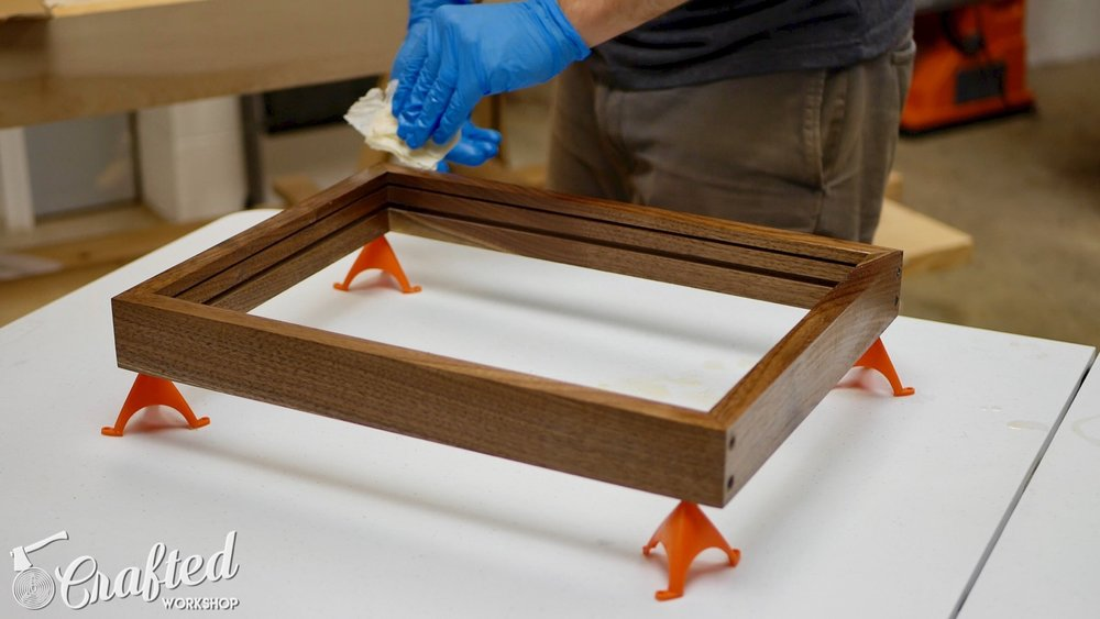 DIY Light Box Sign How-To Build waterlox walnut
