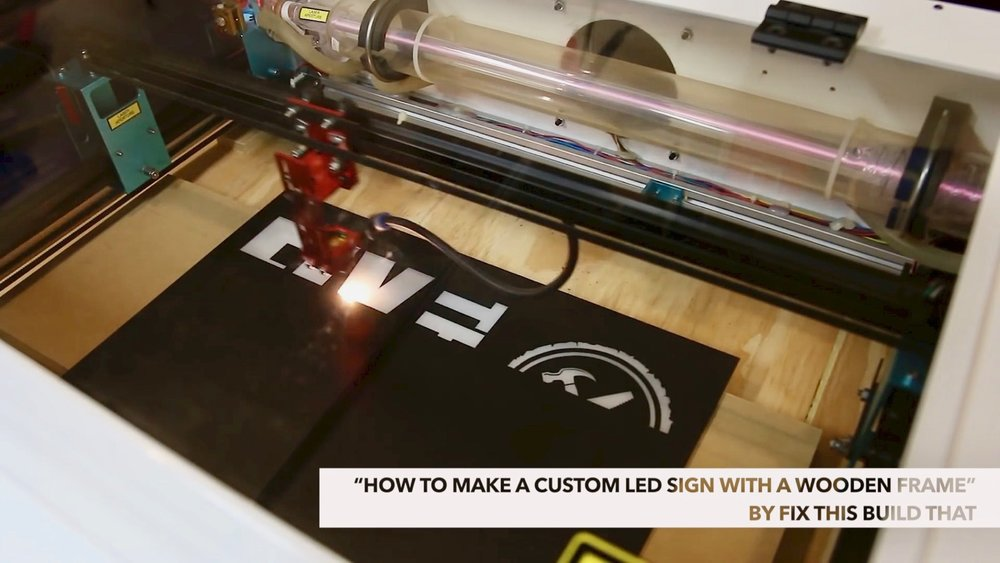 DIY Light Box Sign How-To Build full spectrum laser glass
