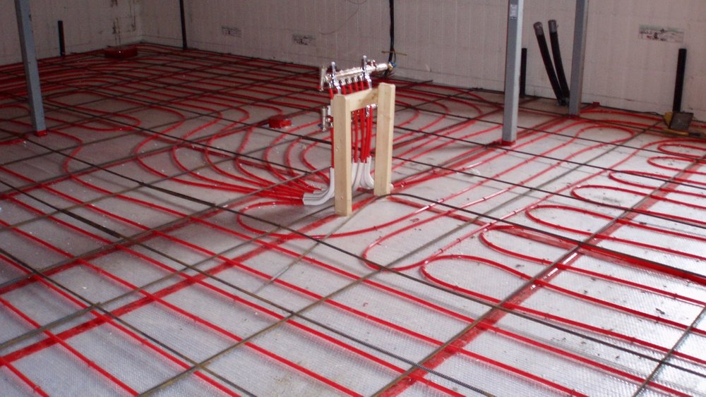 shop heating in floor radiant heating