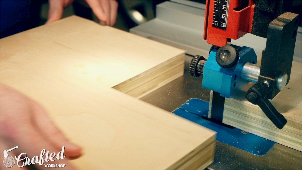 cutting plywood on laguna 1412 bandsaw with laguna resaw king blade