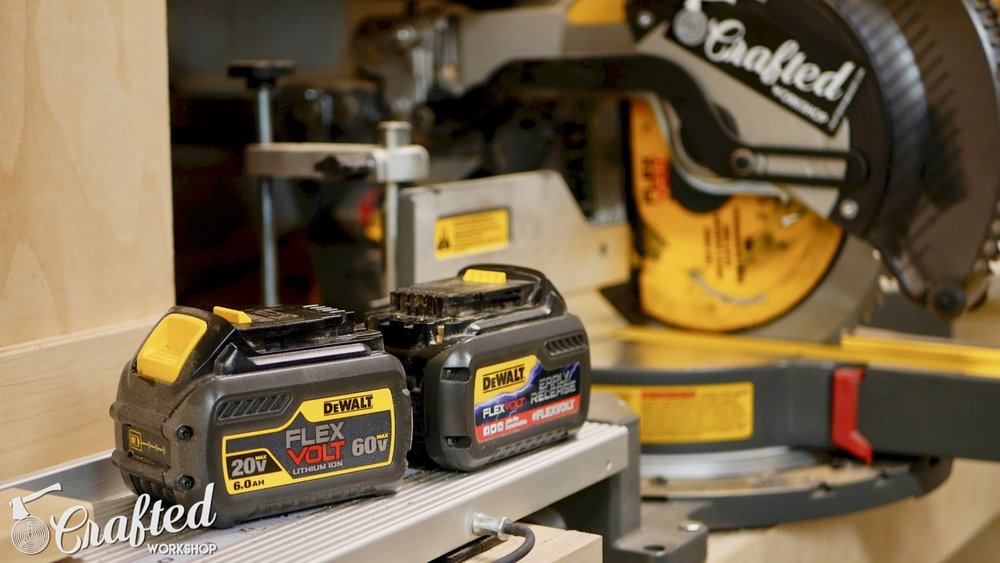 Shop Tour 2017 crafted workshop woodworking dewalt flexvolt miter saw