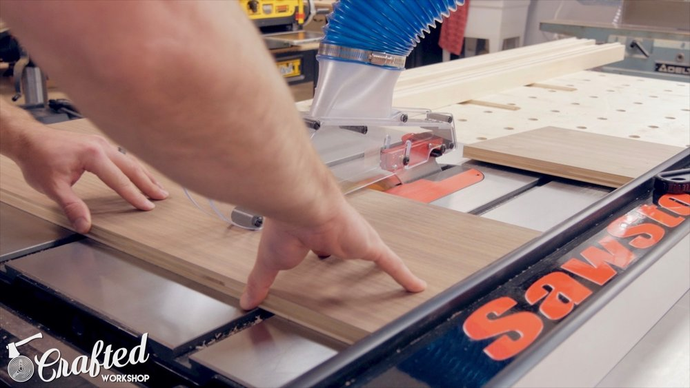 cutting purebond plywood on sawstop ics table saw