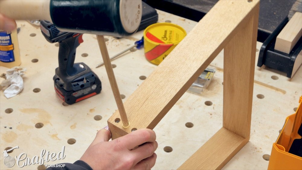 adding a dowel pin for reinforcement