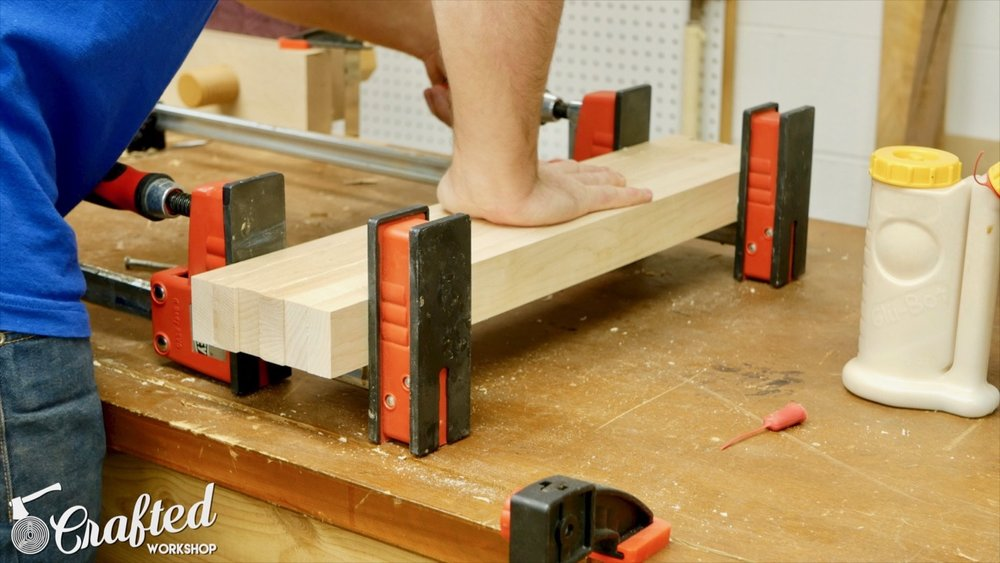 gluing hard maple with bessey k body revo clamps