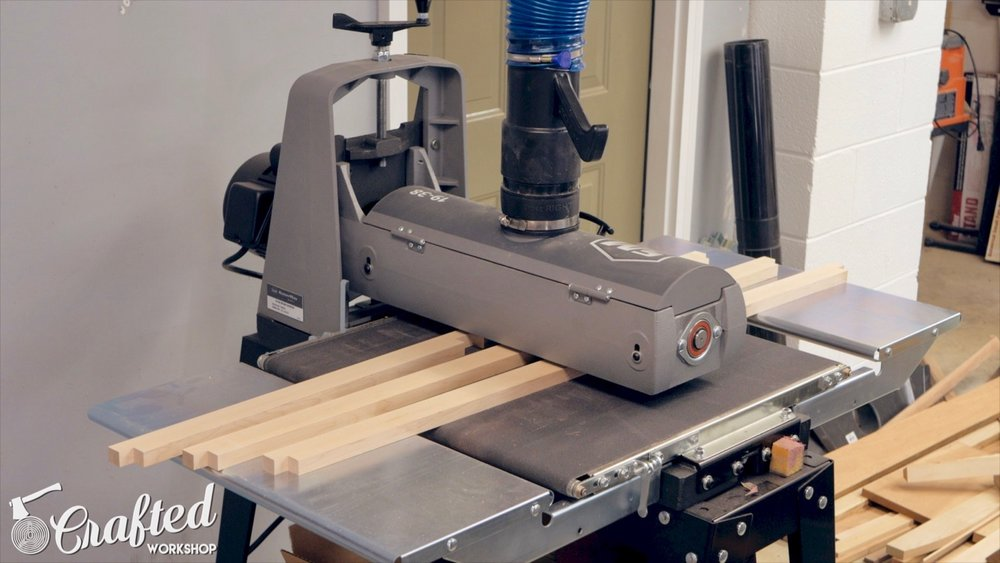 sanding hard maple with supermax 19-38 drum sander