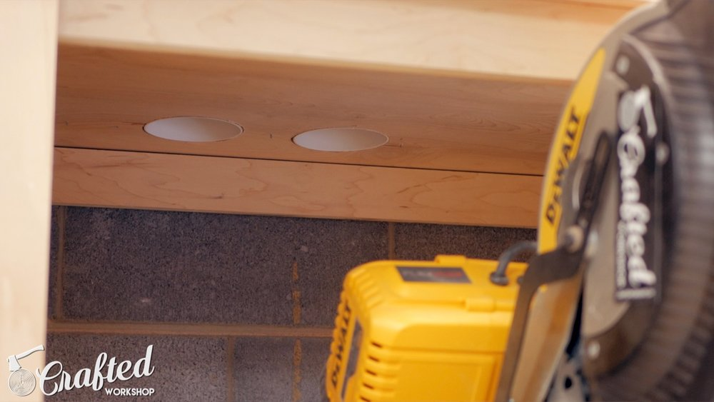 dust ports in miter saw station