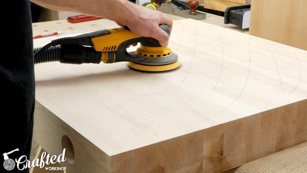 sanding hard maple with mirka deros sander