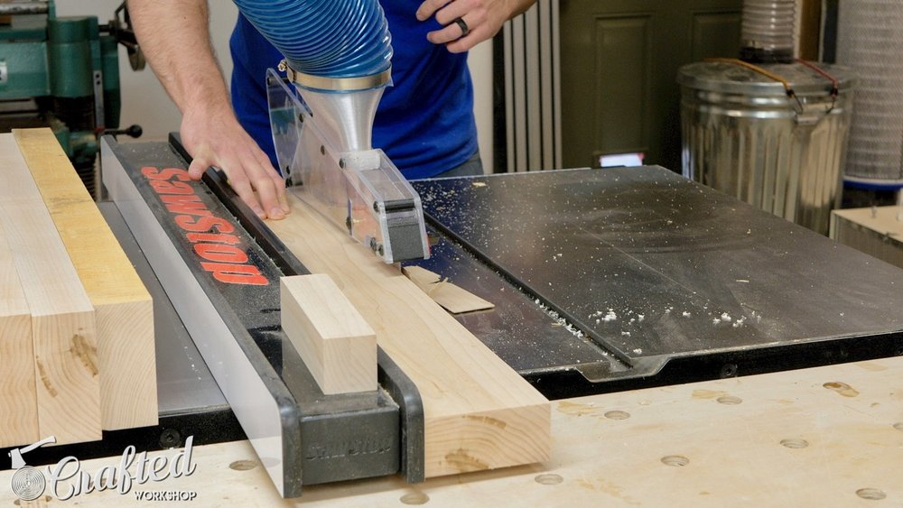 ripping hard maple on sawstop 3HP ics table saw