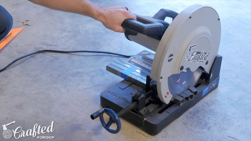 cutting steel tubing on evolution evosaw380 metal cutting saw
