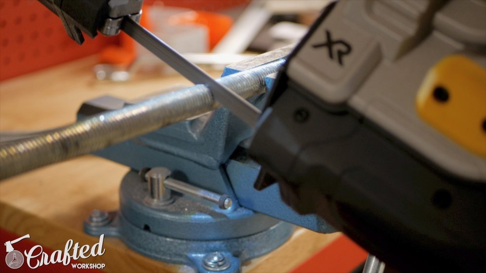 cutting all thread with dewalt metal bandsaw