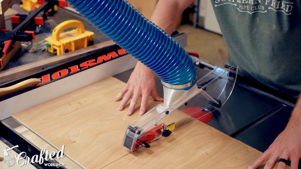 "cutting ¼"" plywood drawer bottoms on table saw"