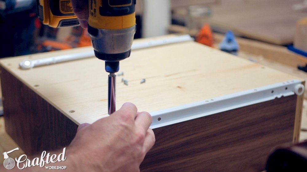 installing bottom mount drawer slides