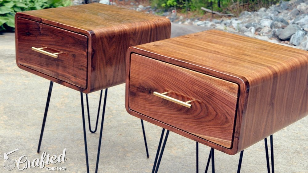 How To Build MidCentury Modern Walnut End Tables Crafted Workshop - How to build an end table
