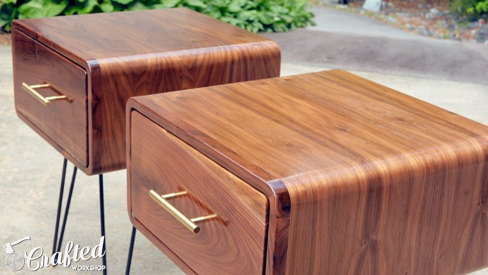 Mid-Century Modern Walnut End Table | How To Build - Woodworking