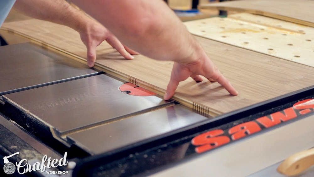 kerfing plywood on the table saw