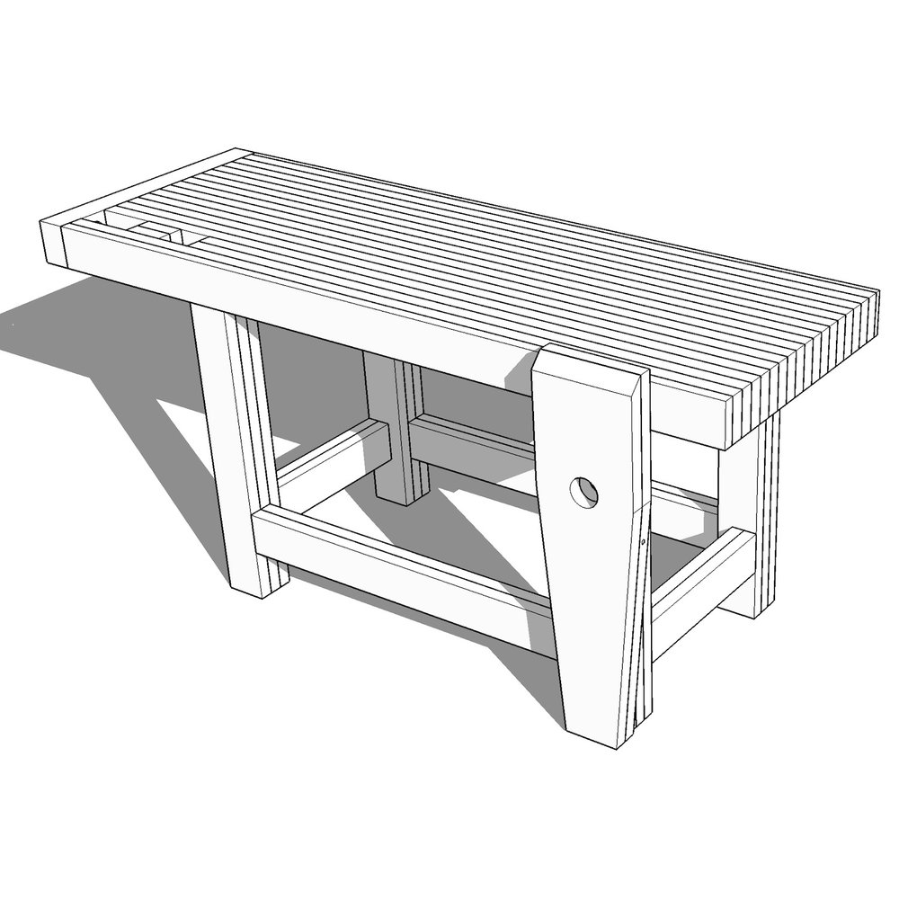 Roubo Style Woodworking Workbench Plans Crafted Workshop