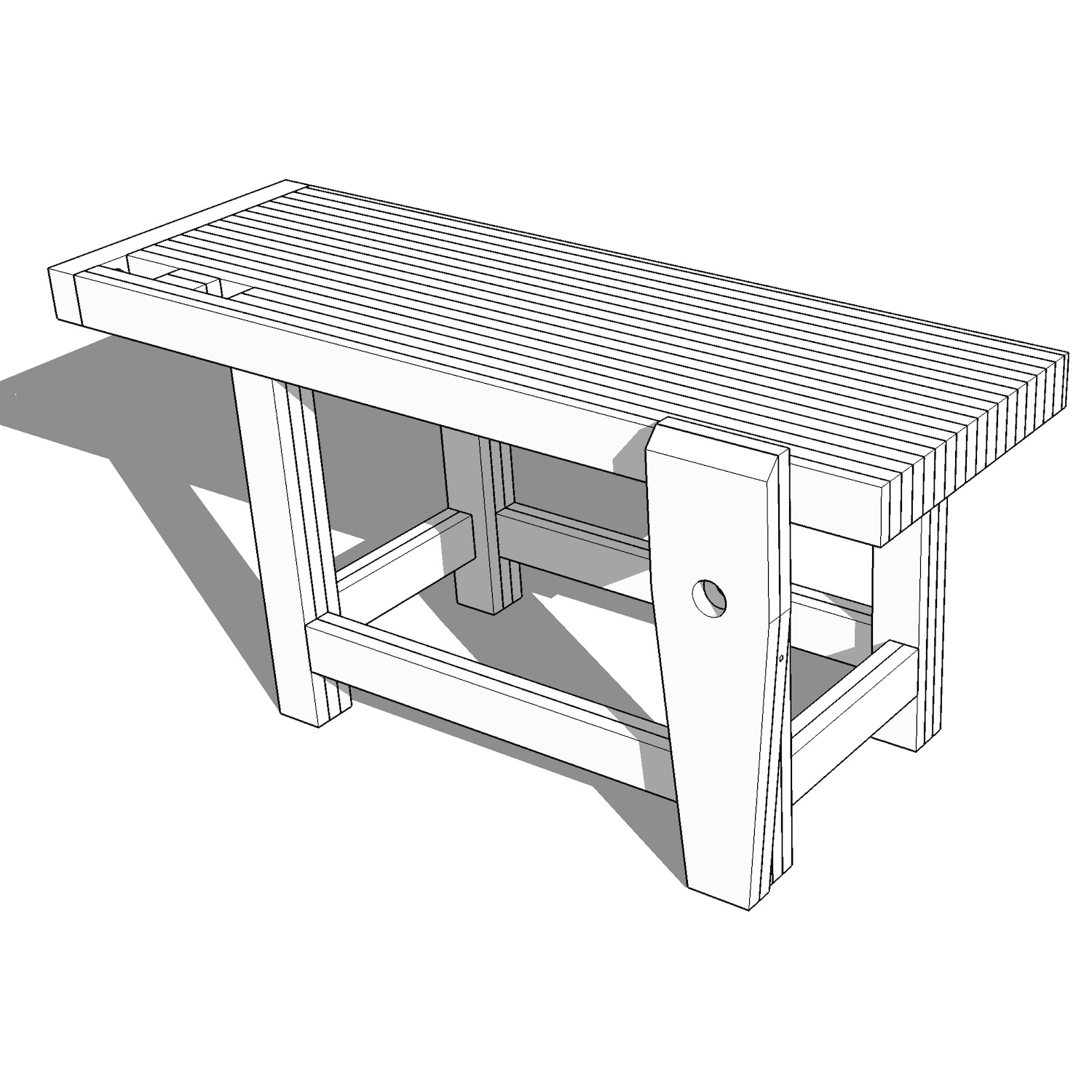 Roubo-Style Woodworking Workbench Plans — Crafted Workshop