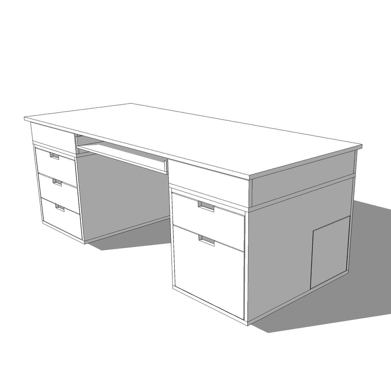 Computer Desk Diy Desk Pc Plans Crafted Workshop