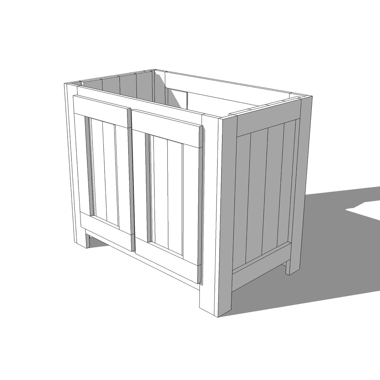 Rustic Bathroom Vanity Plans Crafted Workshop