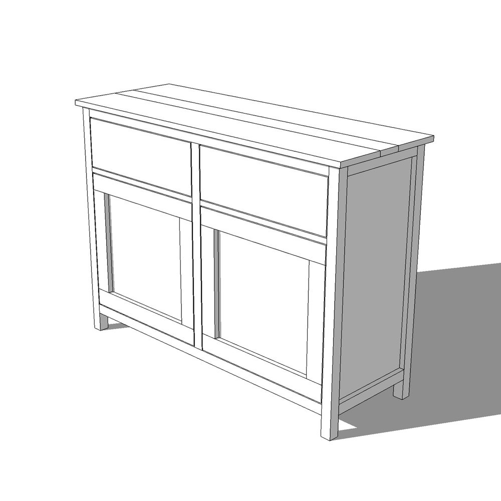 DIY Sideboard Buffet Cabinet Plans