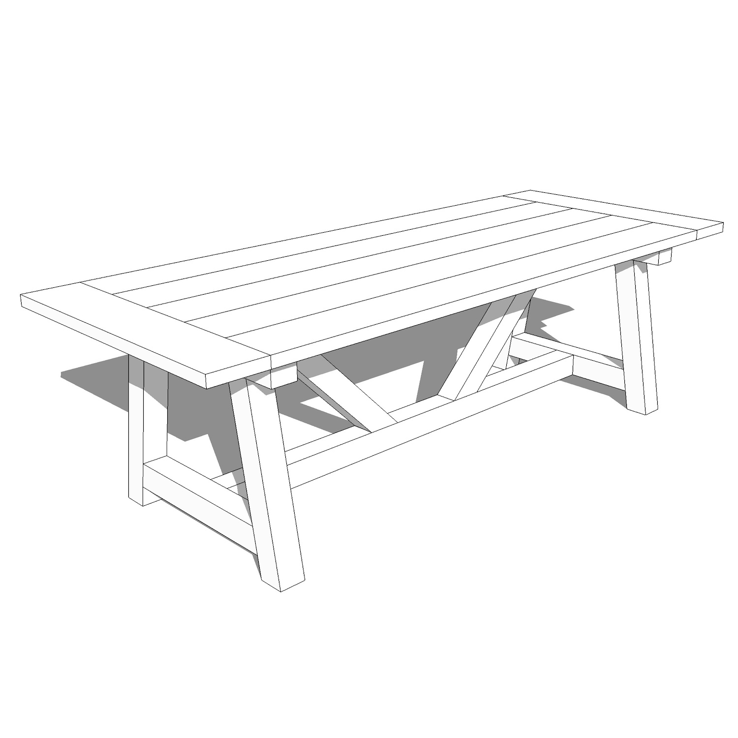 Farmhouse Dining Table Plans Crafted Workshop